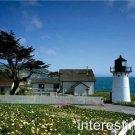 New [8x10] Antique Lighthouse Photo: Point Montara, Half Moon Bay, California