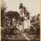 New [8x10] Antique Lighthouse Photo: Old Cape Florida Light House