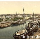 New [8x10] Antique Lighthouse Photo: New Harbor, Bremerhafen, Hanover, Germany-2