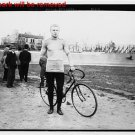 Antique Photo Reproduction:8.5x11: Vistor Dupre of France with Biccyle in 1908