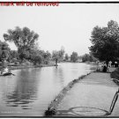 Antique Photo Reproduction:8.5x11: 1905--Lake Wade Park, Cleveland with bicycle
