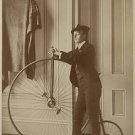 Antique Photo Reproduction:8.5x11:1894 Frances Johnston posed with bicycle