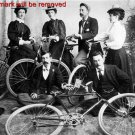 Antique Photo Reproduction:8.5x11:Chinook bicycle club members in 1896
