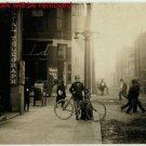 Antique Photo Reproduction:8.5x11: George Christopher with bicycle in 1909
