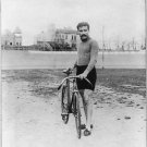 Antique Photo Reproduction:8.5x11: Bicycle Rider Leon Georget in 1908