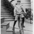 Antique Photo Reproduction:8.5x11:1902 Archie Roosevelt on a bicycle