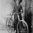Antique Photo Reproduction:8.5x11:1898 Amy Randall at 14 with her bicycle