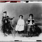 Old Large Photo Reprint:8.5x11: Children Posed with Bicycle and Tricycle c1910