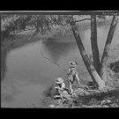 """*NEW"""" SCHRIEVER,LOUISIANA 1940 Photo: Cajun Children Fishing in Bayou WW2 Era"""