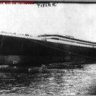 Antique Photograph RP:8.5x11: The Titanic at Sea