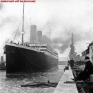 Antique Photograph RP:8.5x11: The Titanic leaving the dock