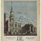 New [8x10] Antique Masonic/Mason Photo: Hall, Chestnut Street, Philadelphia 1819