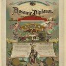 New [8x10] Antique Masonic/Mason Photo: Diploma, A.F. & A.M. Emblematic Cert.