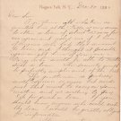 Antique:1892 Document-H.W. Beardsley-Architect:Niagara Falls,NY: Asking for loan