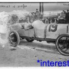New [8x10] Antique Chevrolet Photograph: #19 Racer, In Sunbeam, 1908, Auto Car