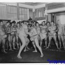 New [8x10] Antique Wrestler Photograph: Sumo Wrestler Match, Onlookers