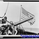 New [8x10] Antique Submarine Photograph:Conning Tower, Crew, 50 Caliber
