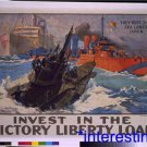 New [8x10] Antique Submarine Photograph: Invest in the Victory Liberty Loan