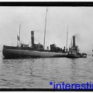 New [8x10] Antique Submarine Photograph: German Submarine in Baltimore with tug
