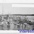 New [8x10] Antique Submarine Photo: Acheron and German Submarines, 1913 Harbor
