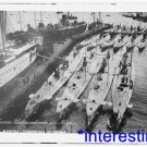 New [8x10] Antique Submarine Photo:German Submarines in Harbor, Unknown date