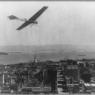 Historical Photograph: 8.5x11: c1910: Antique Airplane over San Fransisco