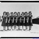 *New* Antique Japan,Japanese Photo[8x10] Pinedale, CA Waitresses uniforms