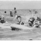*NEW* Antique Japan/Japanese Photo[8x10] Seaside, Japan in 1917, Girls Swimming