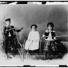*NEW* VINTAGE ANTIQUE BICYCLE PHOTO: CHILDREN POSED WITH TRICYCLES, FASHION