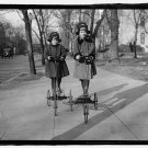 *NEW* VINTAGE ANTIQUE BICYCLE PHOTO: CHILDREN OF ROGER NIELSEN, TRICYCLES