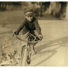 *NEW* VINTAGE ANTIQUE BICYCLE PHOTO: CURTIS HINES, WESTERN UNION MESSENGER