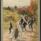 *NEW* VINTAGE ANTIQUE BICYCLE PHOTO:ART PHOTO PRINT:HIGH WHEEL CYCLISTS TRICYCLE