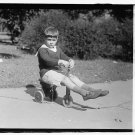 *NEW* VINTAGE ANTIQUE BICYCLE PHOTO: WOODEN TRICYCLE, HOUSTON, TEXAS BOY