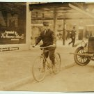 *NEW* VINTAGE ANTIQUE BICYCLE PHOTO:  515 N WALNUT STREET, UNKNOWN, MESSENGER