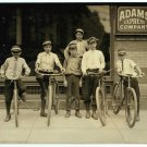 *NEW* VINTAGE ANTIQUE BICYCLE PHOTO: GROUP OF POSTAL MESSENGERS, NORFOLK VA