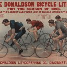 *NEW* VINTAGE ANTIQUE BICYCLE PHOTO: THE DONALDSON CYCLE LITHOS, RACERS