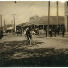 *NEW* VINTAGE ANTIQUE BICYCLE PHOTO: MESSENGER BOY RESERVATION BROTHEL DISTRICT