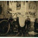 *NEW* VINTAGE ANTIQUE BICYCLE PHOTO: BELLEVUE, WASHINGTON MESSENGER BOY CYCLE