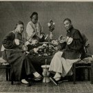Old Vintage PHOTO PRINT:Antique Image: UNKNOWN FAMILY SMOKING OPIUM IN CHINA
