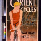 *NEW* VINTAGE ANTIQUE BICYCLE PHOTO: ORIENT CYCLES POSTER AD WALTHAM MFG CO