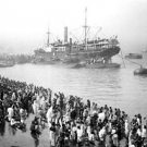 *NEW* VINTAGE ANTIQUE INDIA PHOTO: BRITISH COLONIAL: CALCUTTA, GHATS, SHIP
