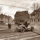 REPRODUCTION ANTIQUE PHOTO:SEPIA: ANTIQUE ROADSTER, CAR, UNKNOWN, DIRT ROAD