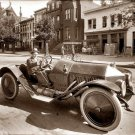 REPRODUCTION ANTIQUE PHOTO:SEPIA: ANTIQUE UNKNOWN ROADSTER, WHITE-WALL TIRES