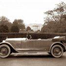 REPRODUCTION ANTIQUE PHOTO:SEPIA: ANTIQUE CONVERTIBLE AUTOMOBILE, WHITE HOUSE DC