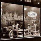 REPRODUCTION ANTIQUE PHOTO:SEPIA: ANTIQUE CAR DISPLAY, DEALERSHIP OAKLAND AUTO