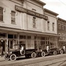 REPRODUCTION ANTIQUE PHOTO:SEPIA: STORY UNKNOWN: FUSSELL-YOUNG ICE CREAM CO CARS