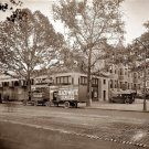 REPRODUCTION ANTIQUE PHOTO:SEPIA: STORY UNKNOWN:ANTIQUE COURIER TRUCK B&W EXPRES