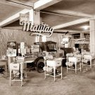 REPRODUCTION ANTIQUE PHOTO:SEPIA: STORY UNKNOWN: MAYTAG WASHING MACHINE ANTIQUE