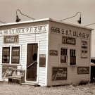 REPRODUCTION ANTIQUE PHOTO:SEPIA: STORY UNKNOWN:ANTIQUE CARS COCA COLA GAS PUMP?