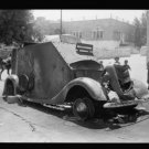 *NEW* Antique Old Wreck Photo[8x10] Hebron Attack, 1938, Armoured Car, Burned